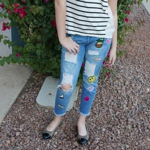 STS Blue Jeans - Distressed Patched denim jeans STS Blue size 25